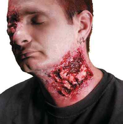 Chomped Neck Bite Mark Wound Dress Up Halloween Costume Makeup Latex Prosthetic](Halloween Makeup Bite Marks)