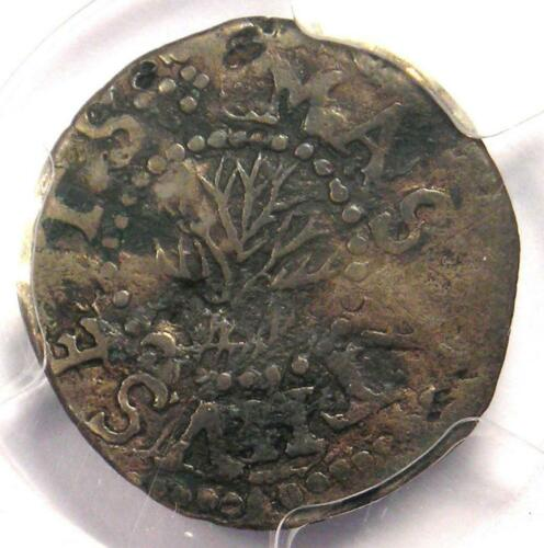 1652 Massachusetts Oak Tree Threepence (3P, 3Pence) - PCGS XF Detail - Rare Coin