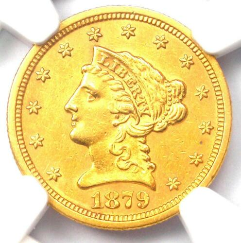 1879-S Liberty Gold Quarter Eagle $2.50 Coin - NGC Uncirculated Detail (UNC MS)
