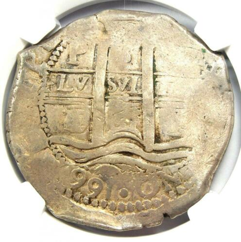 1661-P E Bolivia Felipe IV 8 Reales Coin (8R) - Certified NGC VF20 - Rare Coin!