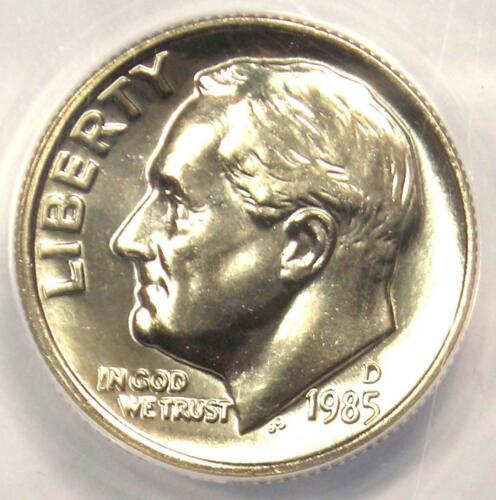 1985-D Roosevelt Dime 10C - Certified ANACS MS68 FB - Rare in MS68 FT Grade