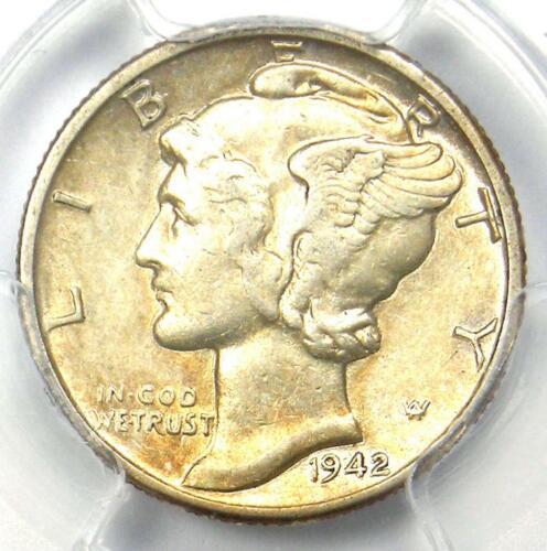 1942/1-D Mercury Dime 10C - PCGS AU55 - Rare Overdate Coin - $1,350 Value!