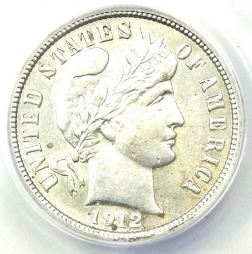 1912-S Barber Dime 10C Coin - Certified ANACS AU55 Detail - Rare Date Coin!