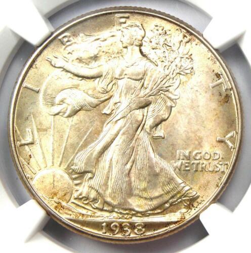 1938-D Walking Liberty Half Dollar 50C - NGC Uncirculated Details (UNC MS BU)!