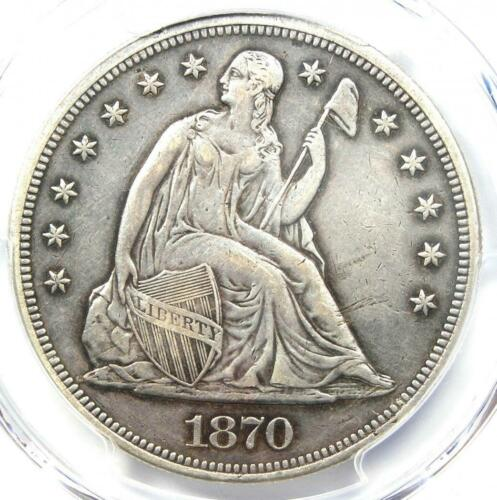 1870-CC Seated Liberty Dollar $1 - PCGS VF Detail (Damage) - Carson City Coin!
