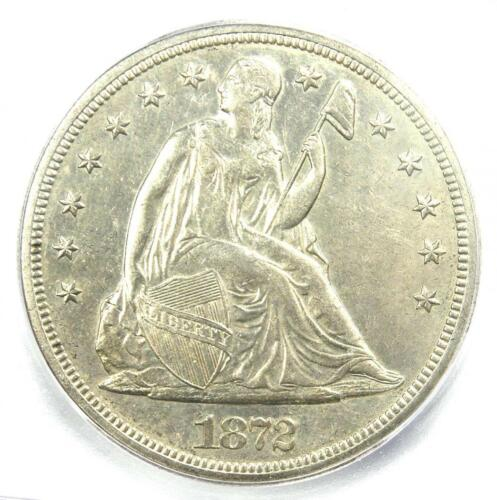 1872-S Seated Liberty Silver Dollar $1 Coin - ICG AU58 - Rare - $8,690 Value!