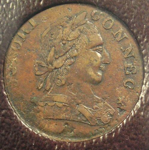 1788 Connecticut Coin (Mailed Bust Right) - Certified ICG VF30 - $450 Value!