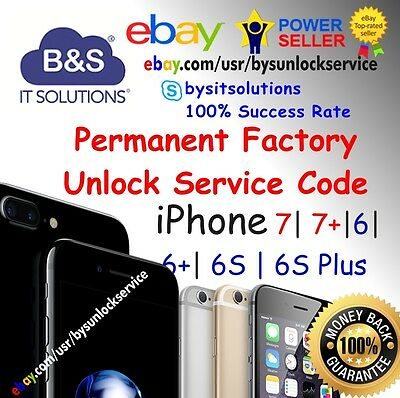 FACTORY UNLOCK CODE SERVICE IMEI AT&T IPHONE X 8 7 Plus 6 6+ 6S 5 4 SE ATT Fast