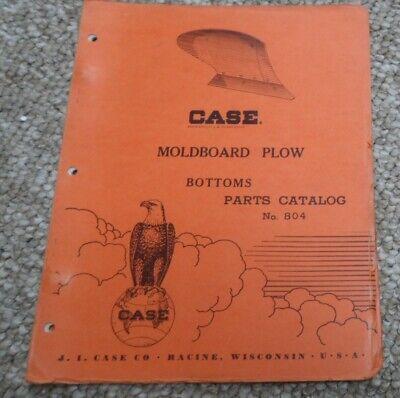 Case Moldboard Plow Bottoms Parts Catalog No 804.