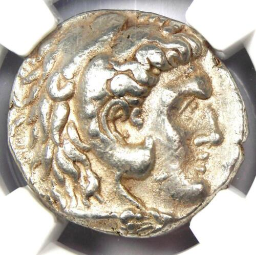 Macedon Demetrius I Poliorcetes AR Tetradrachm Coin 306-283 BC - NGC Choice VF