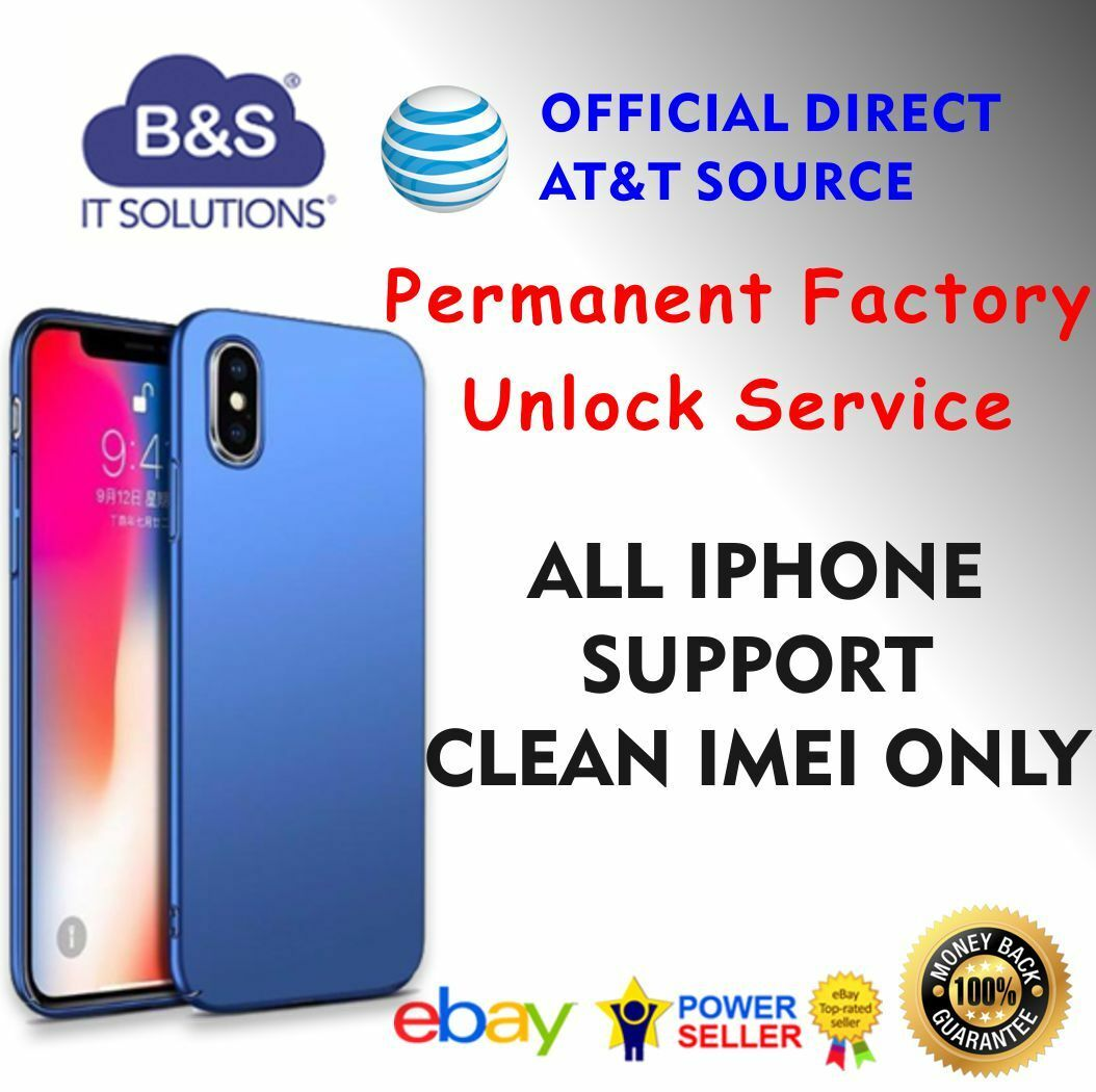 PREMIUM FACTORY UNLOCK CODE SERVICE AT&T IPHONE X 8 7 6+ 6S plus 5S 5C 4S  SE ATT · $2 92 · Other Specialty Services