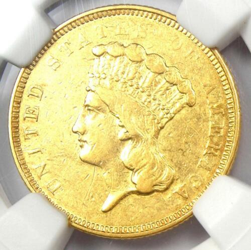 "1854-O Three Dollar Indian Gold Coin $3 - NGC AU Details - Rare ""O"" Mint!"
