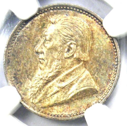 1897 South Africa Zar Threepence (3P) - NGC MS64 - VERY Rare in BU MS64 Grade!