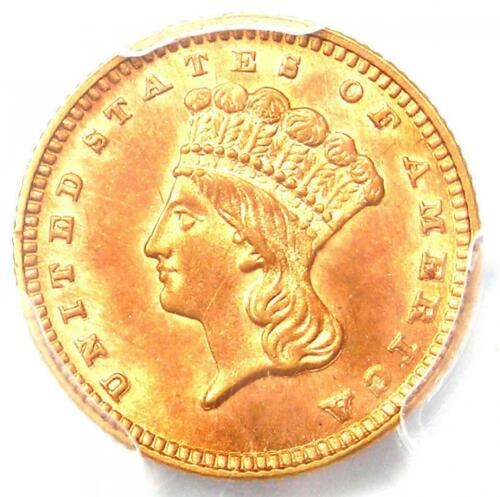 1889 Indian Gold Dollar (G$1 Coin) - Certified PCGS AU58 - Rare Date Coin!