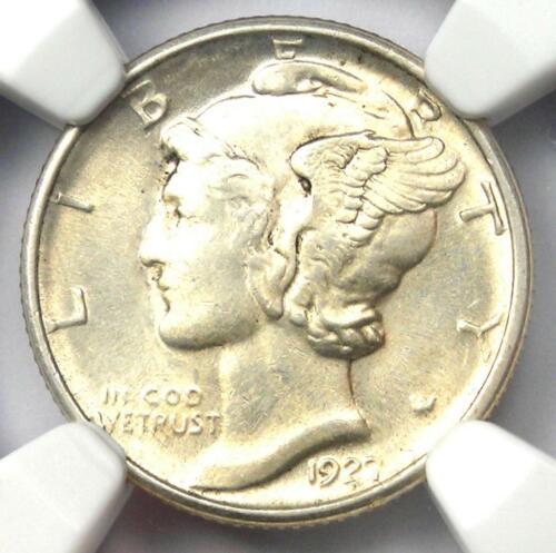 1927-D Mercury Dime 10C Coin - Certified NGC AU58 - Rare Date - Near MS UNC!