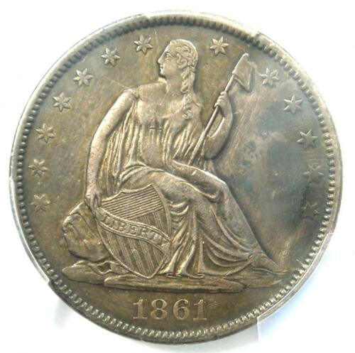 1861-O CSA Obverse Seated Liberty Half Dollar 50C FS-401 - PCGS XF Details (EF)!