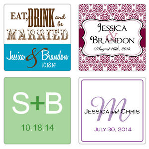 40-2-inch-Square-Custom-Personalized-Glossy-Wedding-Stickers-Favor-Labels-Seal