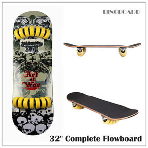New Skateboard Flowboard Maple Deck Pro Complete Skate flow Board 32