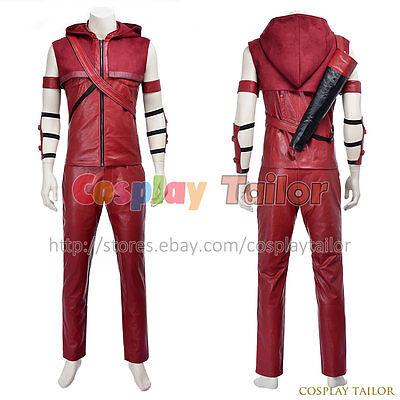 Green Arrow Roy Harper Speedy Red Arrow Cosplay Costume Halloween Male Uniform](Red Arrow Halloween Costume)