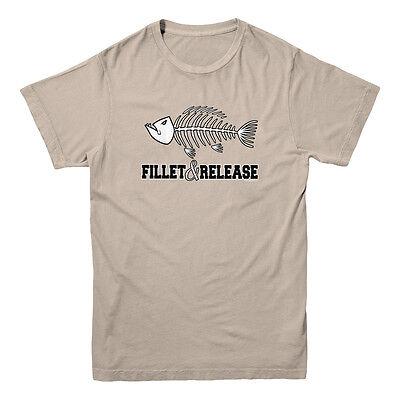Fillet And Release Fish Bones Fish Fisherman Fishing Hunting Funny Men's T-shirt - Funny Fishing Shirt