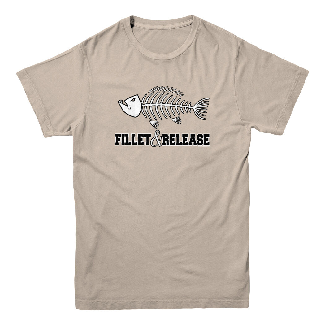 Fillet And Release Fish Bones Fish Fisherman Fishing Hunting Funny Men's T-shirt