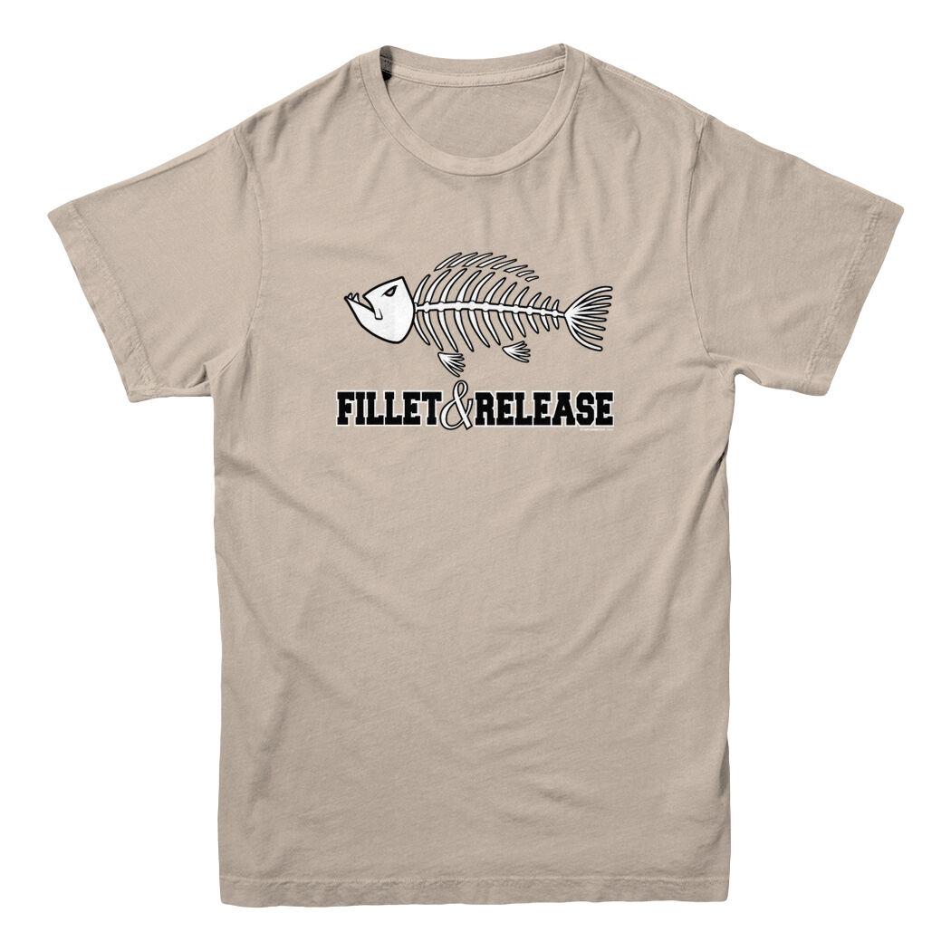 Fillet And Release Fish Bones Fish Fisherman Fishing Hunting Funny Men's T-shirt