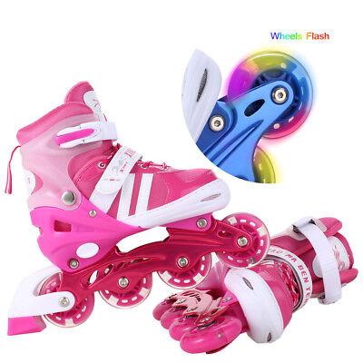Lights For Roller Skates (Skates Adjustable Inline Skates with Light Up Wheels Roller Blades for Girl)