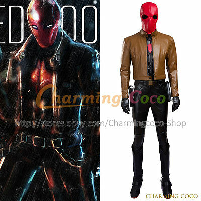 Batman Jason Peter Todd Red Hood Cosplay Costume Adult Uniform Outfit Amazing - Amazing Batman Costume