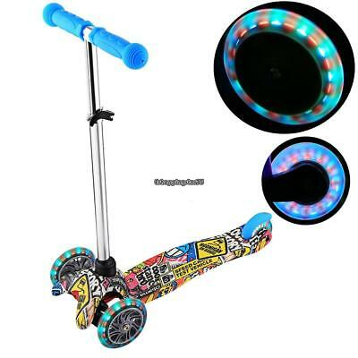 Kick Scooter for Kids Deluxe 3 Wheels Glider with LED Light Up Wheel Best