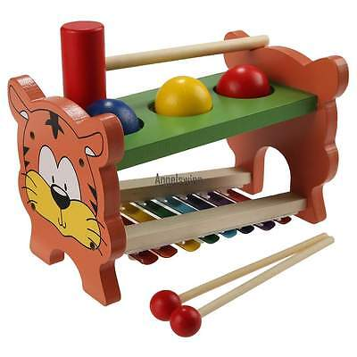 Metallophon Xylophon Glockenspiel für Kinder mit 8 Klangplatten