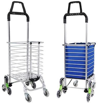 Shopping Cart Portable Utility Carts Folding Trolley Stair Climbing Cartwheels