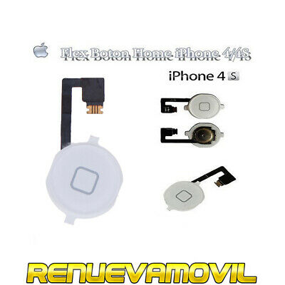 Boton Home Cable Flex Para iPhone 4S Blanco Cambiar Botón Menu Inicio