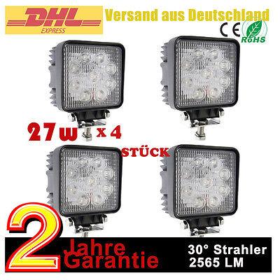 4x27W LED Scheinwerfer Auto boot  KFZ SUV ATV 12Volt Traktor Marine Arbeitslicht