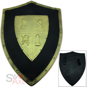 Medieval FOAM Spanish Shield LARP Prop Knights Templar Weapon Cosplay Latex