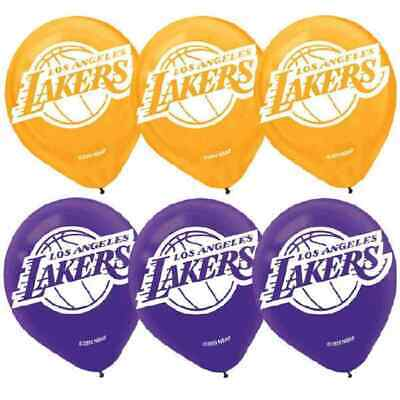 Nba Party Supplies (Los Angeles Lakers NBA Pro Basketball Sports Party Decoration Latex)