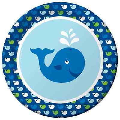 Ocean Preppy Boy Blue Whale Cute 1st Birthday Party 9