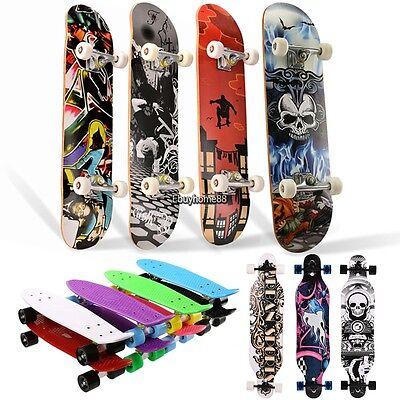 22''24''31''41'' Retro Skateboard Mini Penny Board Longboard Complete Deck USA