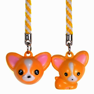 DEER BELL CHARM Set 2 Cell Phone Strap Chihuahua (Cell Phone Strap Set)