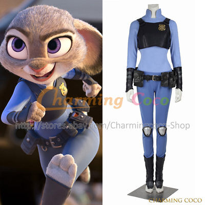 Zootopia Rabbit Judy Hopps Cosplay Costume Halloween Party Girl Uniform Cool New - Cool Girl Costumes Halloween