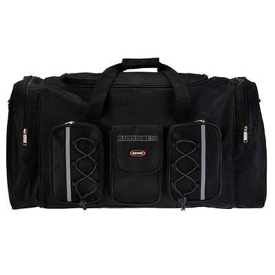 Black Fabric waterproof Tote Bag Gym Duffle Travel Overnight Carry Luggage hot