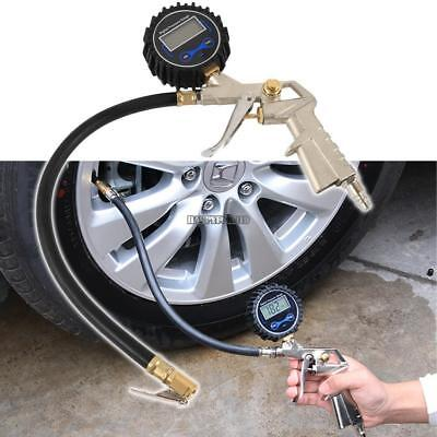 Air Tire Inflator with High Accurate LCD Digital Pressure Gauge Brass Chuck Clip Air Brass Tire Chuck