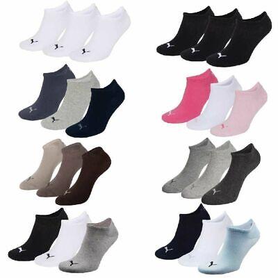 6 Paar Puma Sneaker Invisible Socken Gr. 35 - 49 Unisex für Damen Herren Füßling ()