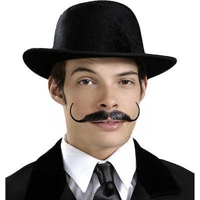Snidely Moustache Gentleman Curl Fancy Dress Adult Costume Accessory 3 COLORS](Mustache Curl)