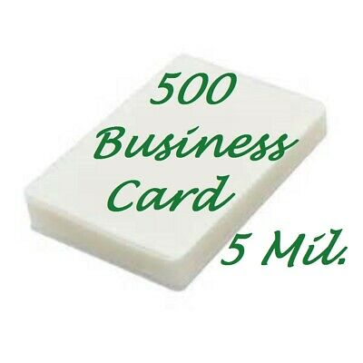 500 Business Card 5 Mil Laminating Pouches Laminator Sheets 2-14 X 3-34
