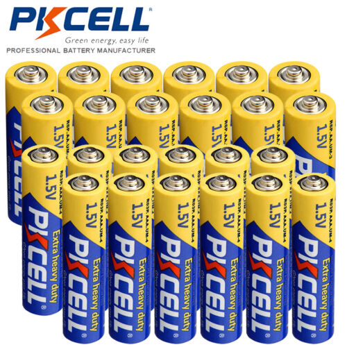 24Pack-12 AAA R03P + 12 AA R6P Carbon-Zinc Batteries Super H