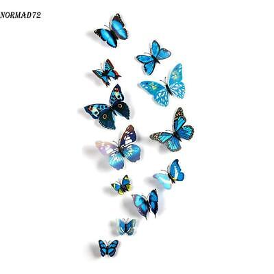 12pcs DIY 3D Butterfly Magnet Wall Decals Stickers Art Home Room Decor Removable](Decor Home)