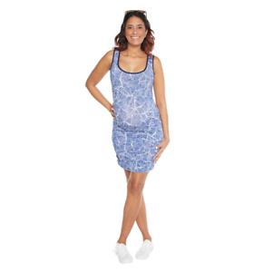 Maternity China Blue Short Ruched Dress