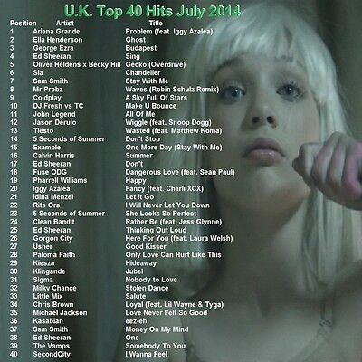 Promo Video Dvd  Uk Top 40 Hit Videos July 2014 Dance Pop  Freshest Only On Ebay