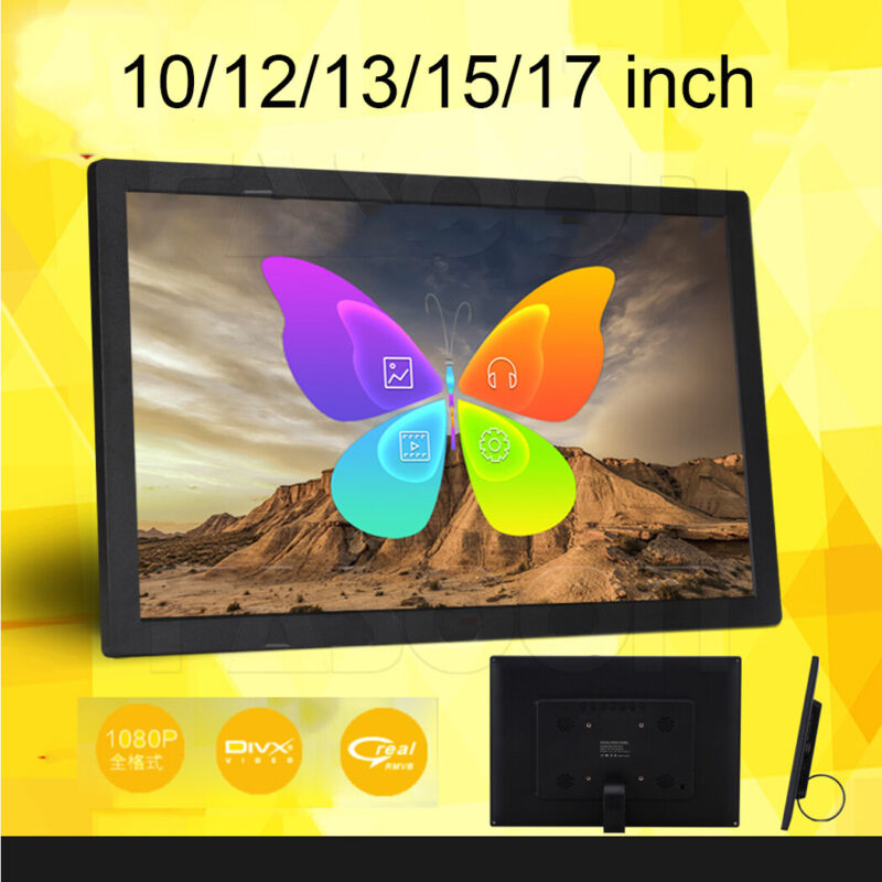 """10/12/15"""" HD LED Digital Photo Picture Frame SD/USB Music/Video/Movie/MP3/MP4"""