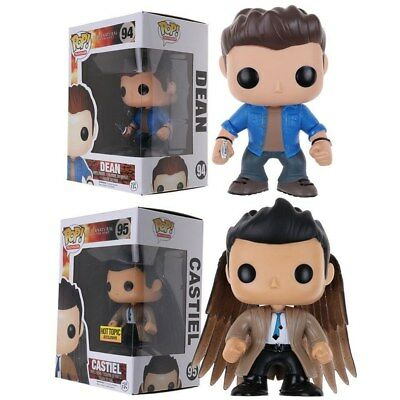 2 Funko Pop! Supernatural Dean Winchester 94 and Castiel with Wings 95 Figure